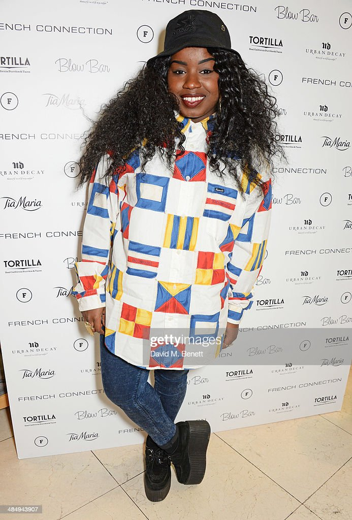 Misha B attends the French Connection #CantHelpMySelfie launch party at French Connection Regent Street store on April 15 2014 in London England