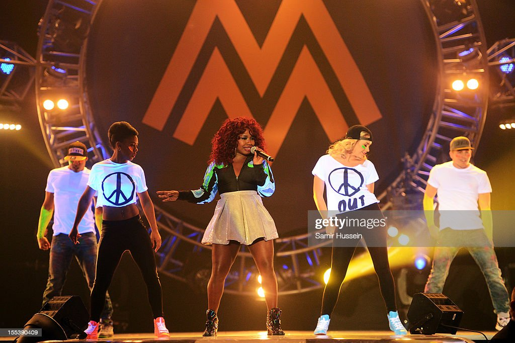 Misha B performs onstage at the 2012 MOBO awards at Echo Arena on November 3 2012 in Liverpool England
