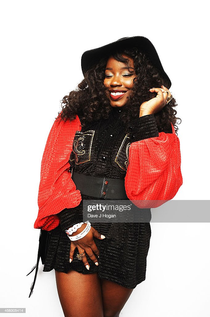 Misha B poses in a portrait studio at the MOBO Awards at SSE Arena on October 22 2014 in London England