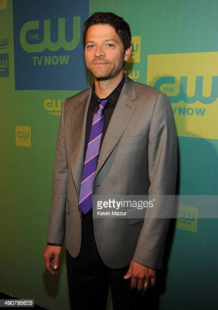 Misha Collins attends The CW Network's 2014 Upfront at The London Hotel on May 15 2014 in New York City