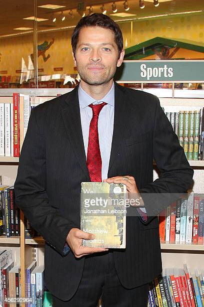 Misha Collins attends the Matthew Thomas And Misha Collins Sign And Discuss Their New Book 'We Are Not Ourselves' at Barnes Noble bookstore at The...