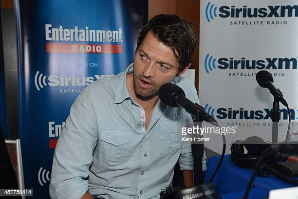 Misha Collins is interviewed on SiriusXM's Entertainment Weekly Radio channel from ComicCon 2014 at The Hard Rock Hotel on July 26 2014 in San Diego...