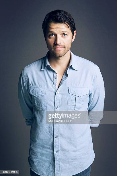 Misha Collins poses for a portrait at the Getty Images Portrait Studio powered by Samsung Galaxy at ComicCon International 2014 on July 24 2014 in...