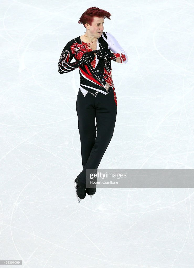 Misha Ge of Uzbekistan performs during the Figure Skating Men's Free Skating on day seven of the Sochi 2014 Winter Olympics at Iceberg Skating Palace on February 14, 2014 in Sochi, Russia.