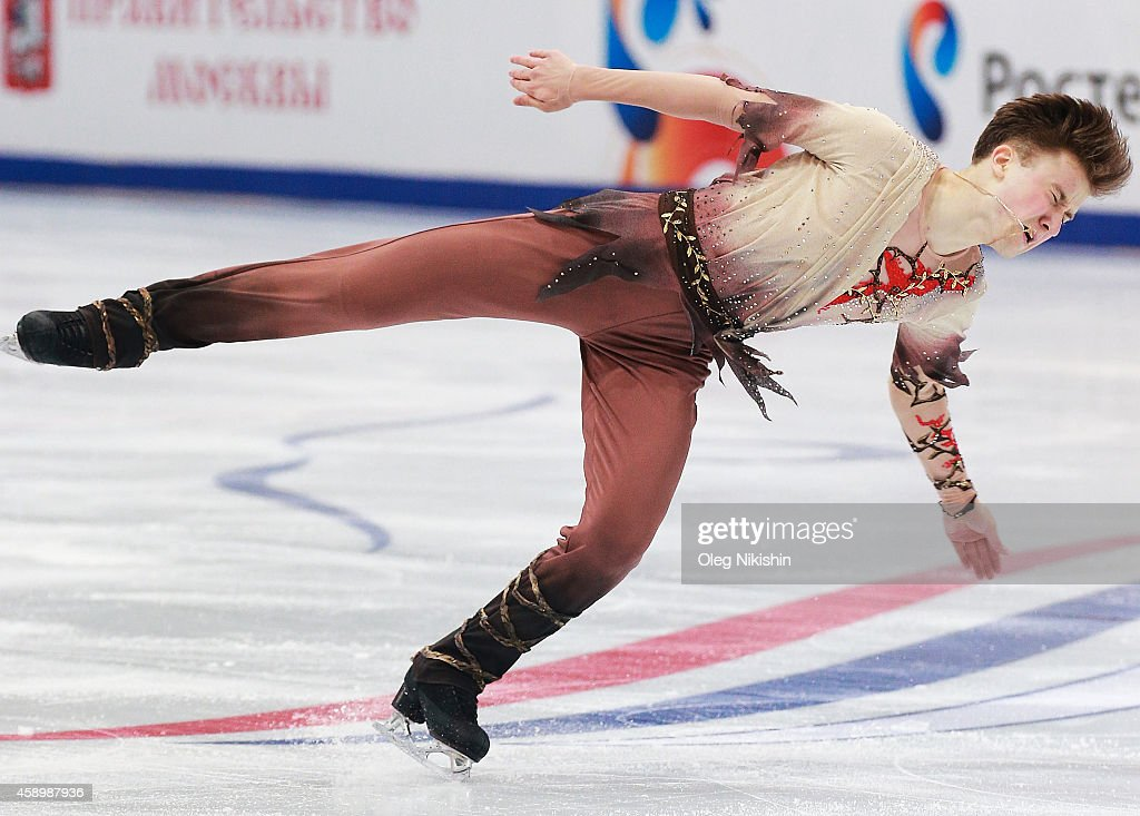 <a gi-track='captionPersonalityLinkClicked' href=/galleries/search?phrase=Misha+Ge&family=editorial&specificpeople=7504752 ng-click='$event.stopPropagation()'>Misha Ge</a> of Uzbekistan skates in the Men Free Skating program during ISU Rostelecom Cup of Figure Skating 2014 on November 14, 2014 in Moscow, Russia.