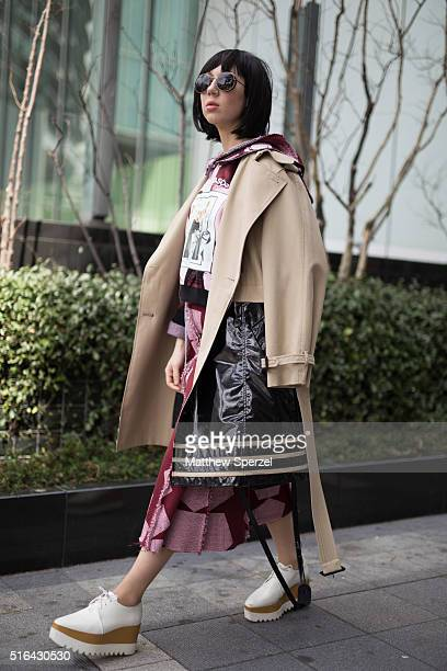 Misha Janette attends the Tokyo New Age show during Tokyo Fashion Week on March 18 2016 in Tokyo Japan