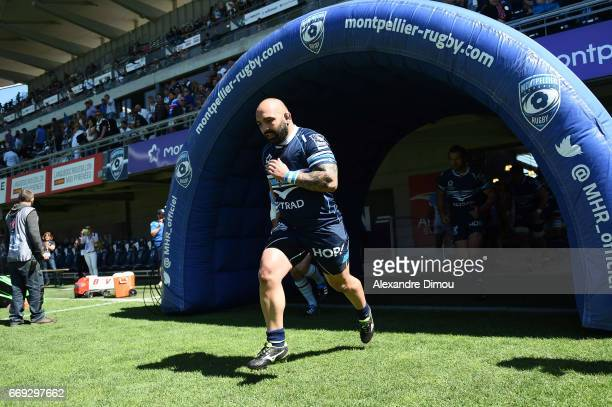 Misha Nariashvili of Montpellier during the Top 14 match between Montpellier and Bayonne on April 16 2017 in Montpellier France