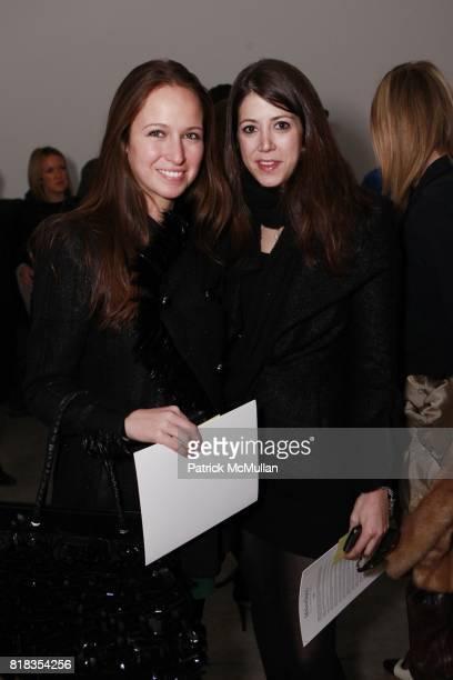 Misha Nonoo and Deborah Lyons attend CATHERINE MALANDRINO Fall 2010 Collection at Chelsea Art Museum on February 14 2010 in New York City