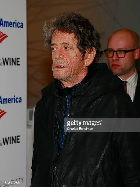 Misician Lou Reed arrives at Bank of America and Food Wine with The Cinema Society present a screening of 'A Place at the Table' at the Celeste...