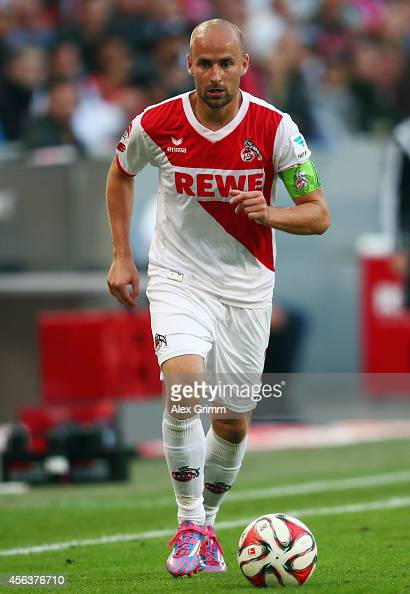 Miso Brecko of Koeln controles the ball during the Bundesliga match between 1 FC Koeln and Borussia Moenchengladbach at RheinEnergieStadion on...