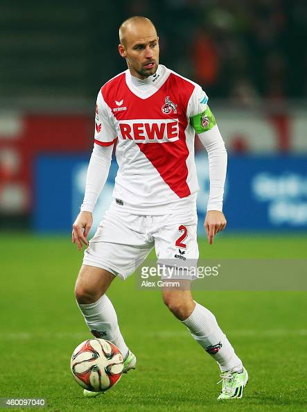 Miso Brecko of Koeln controles the ball during the Bundesliga match between 1 FC Koeln and FC Augsburg at RheinEnergieStadion on December 6 2014 in...