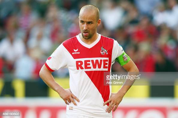 Miso Brecko of Koeln reacts during the Bundesliga match between 1 FC Koeln and FC Bayern Muenchen at RheinEnergieStadion on September 27 2014 in...