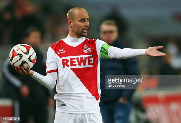 Miso Brecko of Koeln reacts during the Bundesliga match between 1 FC Koeln and FC Augsburg at RheinEnergieStadion on December 6 2014 in Cologne...