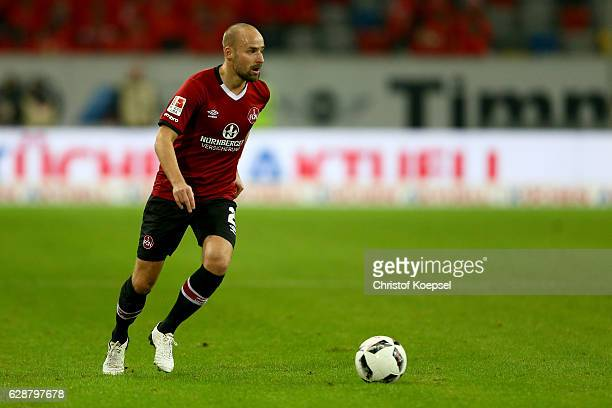 Miso Brecko of Nuernberg runs with the ball during the Second Bundesliga match between Fortuna Duesseldorf and 1 FC Nuernberg at EspritArena on...