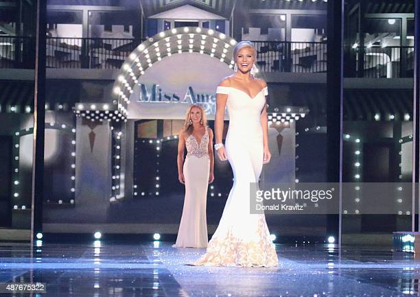 Miss Alabama Meg McGuffin attends the Thursday Night Preliminaries 2016 Miss America Competition at Atlantic City Boardwalk Hall on September 10 2015...