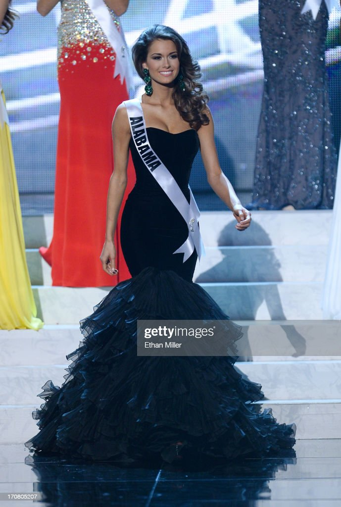 Miss Alabama USA Mary Margaret McCord is named a top six finalist after competing in the evening gown competition during the 2013 Miss USA pageant at PH Live at Planet Hollywood Resort & Casino on June 16, 2013 in Las Vegas, Nevada. McCord went on to be named the first runner-up.