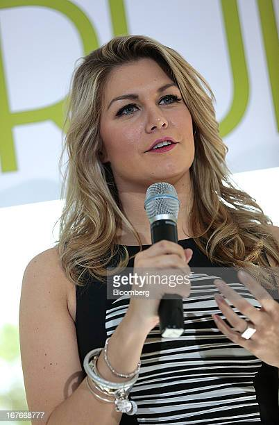 Miss America 2013 Mallory Hagan attends the 20th Annual White House Correspondents' Garden Brunch in Washington DC US on Saturday April 27 2013 This...