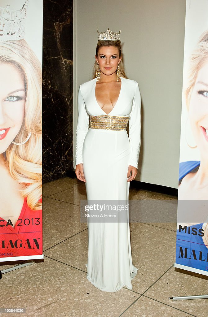Miss America 2013 <a gi-track='captionPersonalityLinkClicked' href=/galleries/search?phrase=Mallory+Hagan&family=editorial&specificpeople=9408105 ng-click='$event.stopPropagation()'>Mallory Hagan</a> attends the Miss America 2013 Homecoming Gala at The Fashion Institute of Technology on March 16, 2013 in New York City.