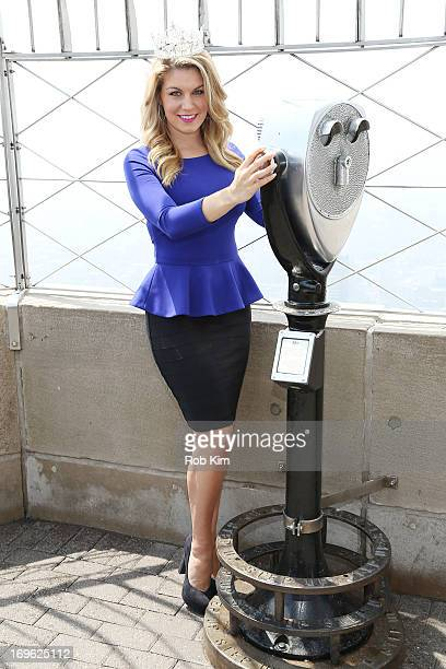 Miss America 2013 Mallory Hagan National Goodwill Ambassador for Children's Miracle Network Hospitals and Miss New York 2012 visits The Empire State...