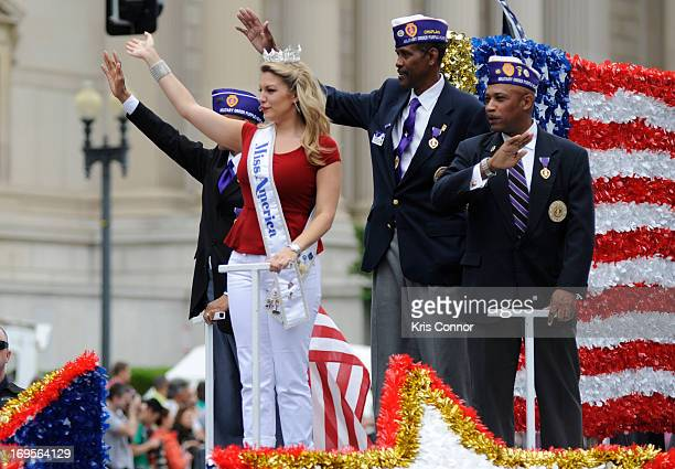 Miss America 2013 Mallory Hytes Hagan rides in the 2013 Memorial Day Parade at Constitution Avenue on May 27 2013 in Washington DC