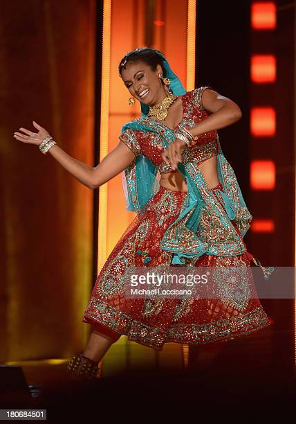 Miss America 2014 contestant Miss New York Nina Davuluri performs in the talent portion of the 2014 Miss America Competition at Boardwalk Hall Arena...