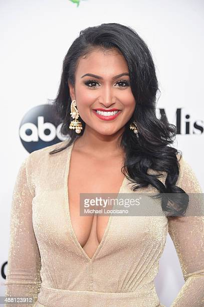 Miss america 2014 Nina Davuluri attends the 2016 Miss America Competition at Boardwalk Hall Arena on September 13 2015 in Atlantic City New Jersey