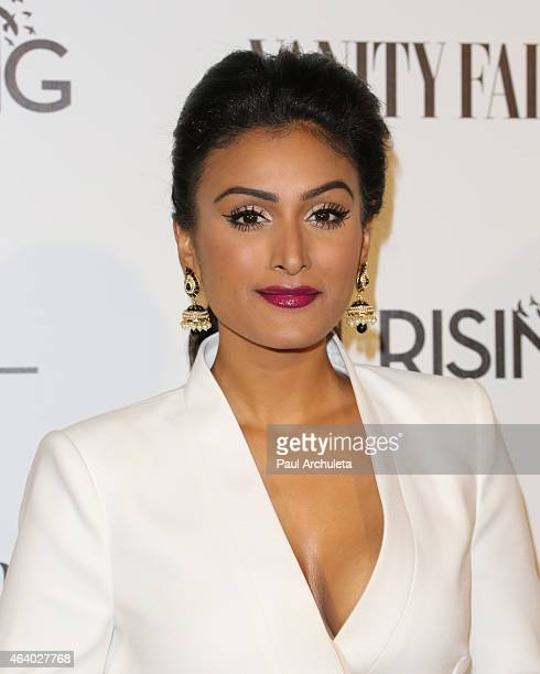 Miss America 2014 Nina Davuluri attends the Vanity Fair and L'Oreal Paris Girl Rising benefit at 1 OAK on February 20 2015 in West Hollywood...