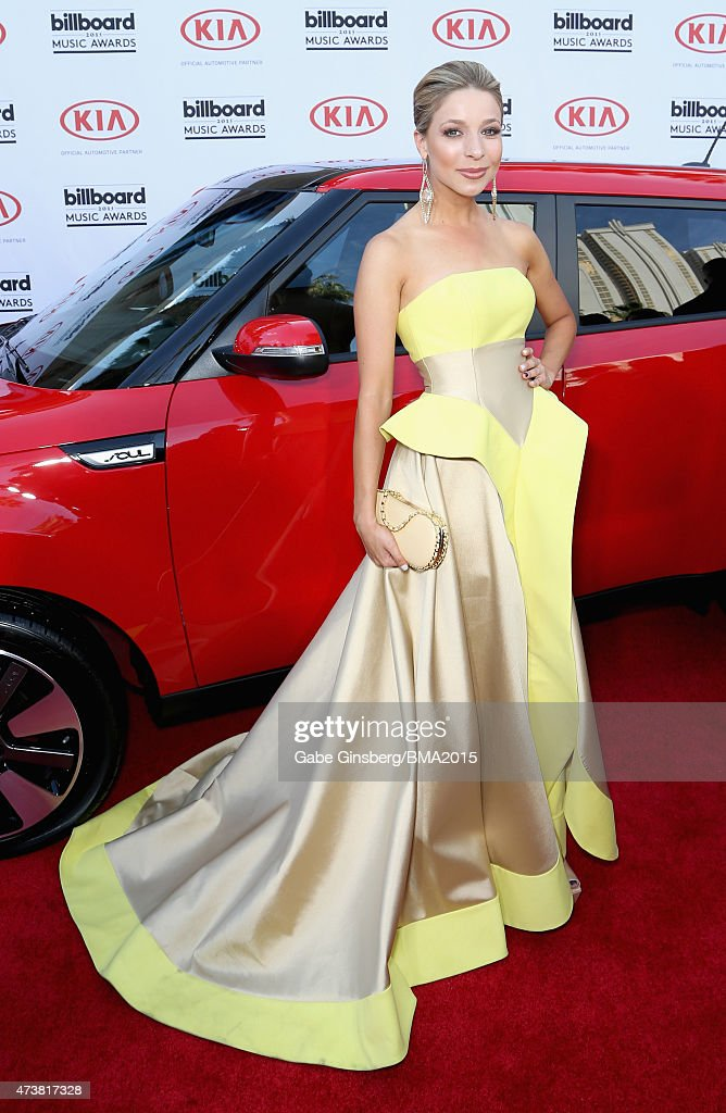 Miss America 2015 Kira Kazantsev attends the 2015 Billboard Music Awards with Kia Motors at MGM Grand Garden Arena on May 17 2015 in Las Vegas Nevada