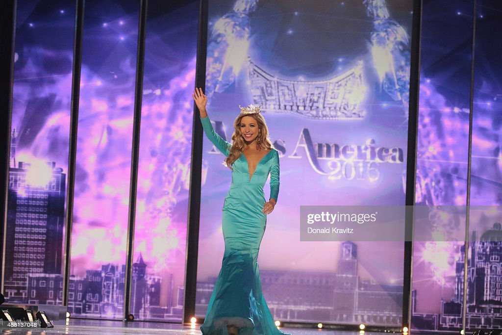 Miss America 2015 Kira Kazantsev attends the 2016 Miss America Competition at Boardwalk Hall Arena on September 13 2015 in Atlantic City New Jersey
