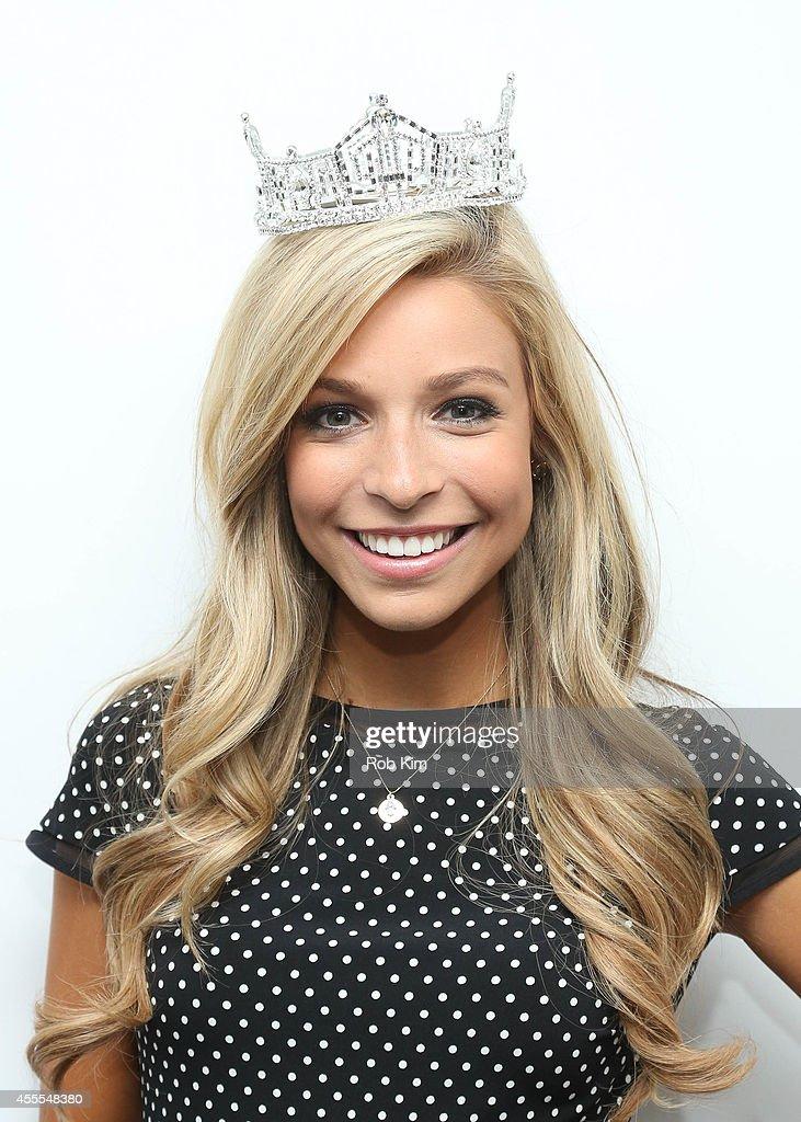 Miss America 2015 Kira Kazantsev poses backstage at FOX Studios on September 16 2014 in New York City