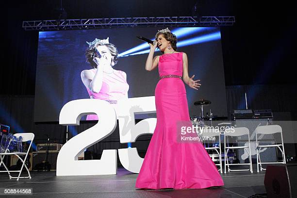 Miss America 2016 Betty Cantrell attends Taste of the NFL 25th anniversary Party With A Purpose at Cow Palace on February 6 2016 in San Francisco...