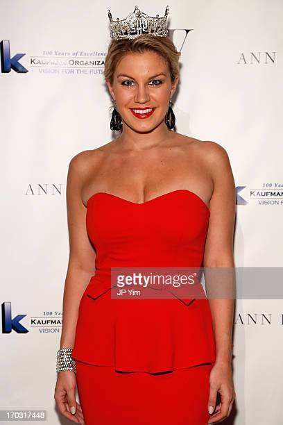 Miss America Mallory Hagan attends The Fashion Institute of Technology Gala 2013 on June 10 2013 at Cipriani in New York City