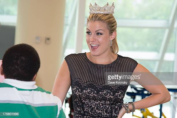 Miss America Mallory Hytes Hagan visits the PSEG Children's Specialized Hospital on August 8 2013 in New Brunswick New Jersey