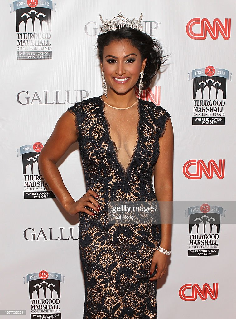 Miss America <a gi-track='captionPersonalityLinkClicked' href=/galleries/search?phrase=Nina+Davuluri&family=editorial&specificpeople=11331921 ng-click='$event.stopPropagation()'>Nina Davuluri</a> attends the Thurgood Marshall College Fund 25th Awards Gala on November 11, 2013 in Washington City.