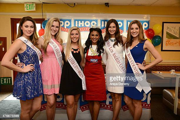 Miss America Nina Davuluri makes pancakes in support of IHOPÕs National Pancake Day fundraiser for ChildrenÕs Miracle Network Hospitals and other...