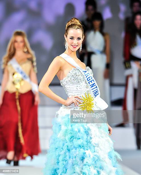 Miss Argentina Josefina Herrero competes during The 54th Miss International Beauty Pageant 2014 at Grand Prince Hotel New Takanawa on November 11...