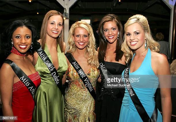 Miss Arkansas Eudora Mosby Miss South Dakota Nikki Grandpre Miss West Virginia Kimberly Goodwin Miss Oklahoma Jennifer Berry and Miss Arizona Audrey...