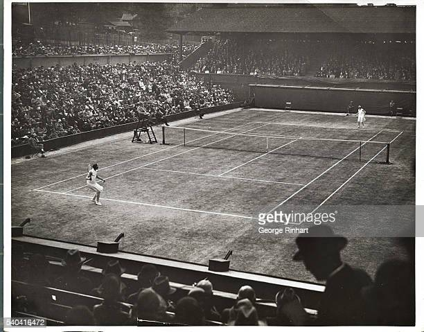 Miss Betty Nuthall England's 16yearold lawn tennis star added to her wonderful record at Wimbledon by beating Mrs Molla Bjurstedt Mallory eight times...