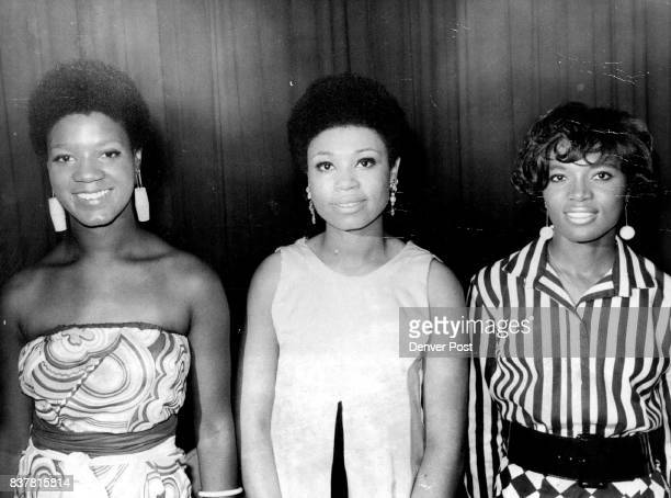 Miss Black Denver Left And RunnersUp For The Title Left to right are Miss Valeria A Watson of 3000 Leyden St Miss Delores Irene DePriest of 3355...