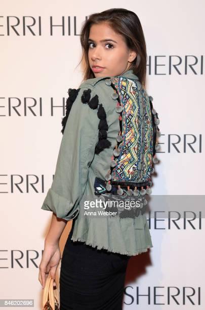 Miss Brasil Teen USA 2015 Emilia Pedersen attends the Sherri Hill NYFW SS18 runway show at Gotham Hall on September 12 2017 in New York City