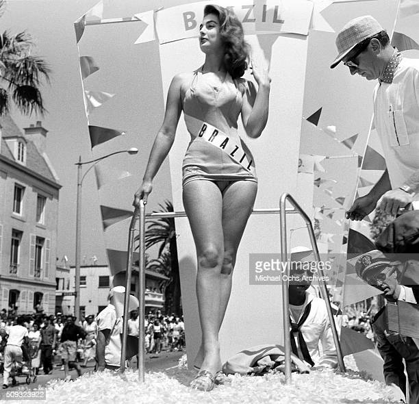 Miss Brazil Adalgisa Colombo Miss Universe Contestant poses during a parade in Long Beach California