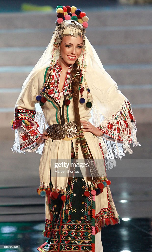 Miss Bulgaria Zhana Yaneva displays her national costume at the 2012 Miss Universe National Costume event at Planet Hollywood Casino Resort on December 14, 2012 in Las Vegas, Nevada.