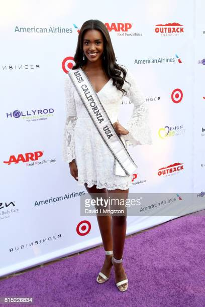 Miss California USA 2017 India Williams attends the 19th Annual DesignCare 2017 at Private Residence on July 15 2017 in Pacific Palisades California