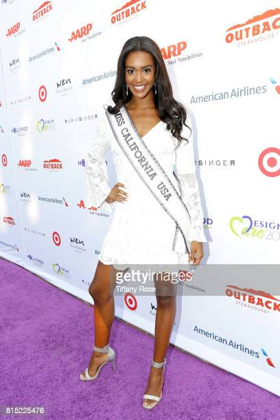 Miss California USA India Williams at HollyRod Foundation's DesignCare Gala on July 15 2017 in Pacific Palisades California