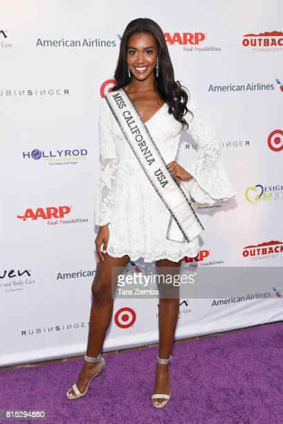 Miss California USA India Williams attends HollyRod Foundation's DesignCare Gala at Private Residence on July 15 2017 in Pacific Palisades California