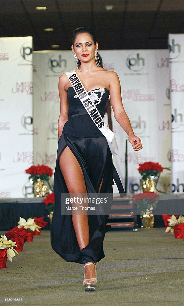 Miss Cayman Islands Lindsay Japal walks the runway as part of the 2012 Miss Universe Pageant's Official Welcome Event at Planet Hollywood Resort and Casino on December 6, 2012 in Las Vegas, Nevada.