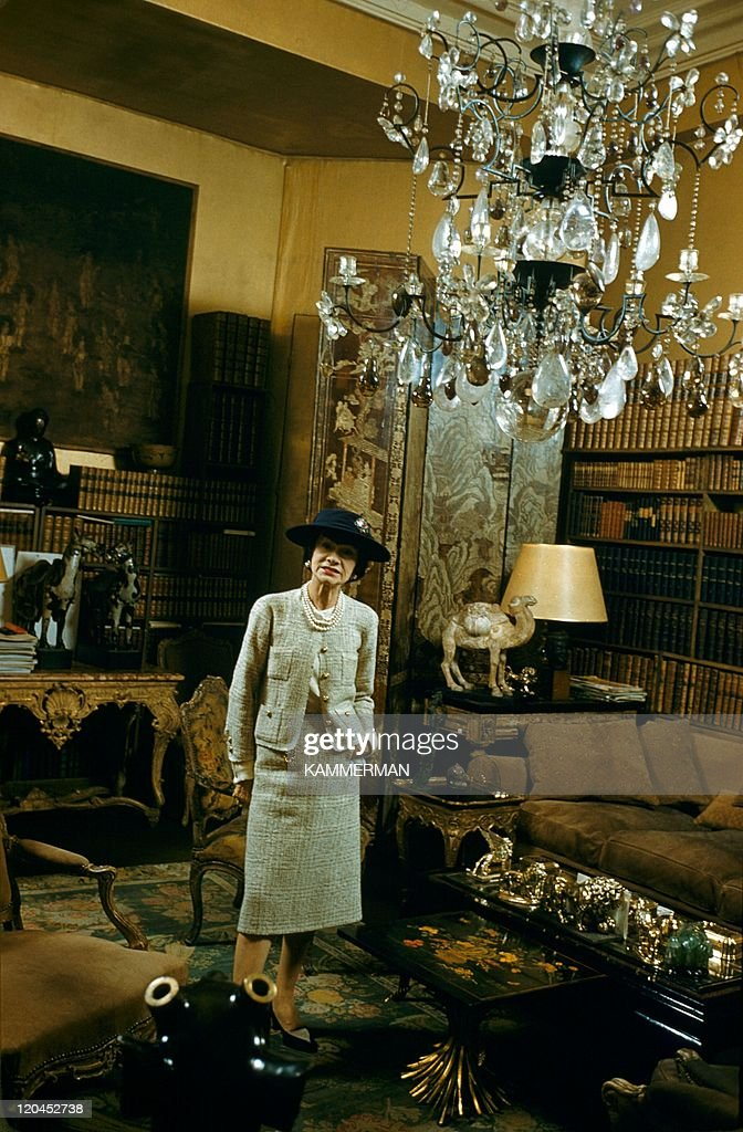 Miss Chanel in Paris, France in 1954 - <a gi-track='captionPersonalityLinkClicked' href=/galleries/search?phrase=Coco+Chanel&family=editorial&specificpeople=216245 ng-click='$event.stopPropagation()'>Coco Chanel</a>'s appartment, Cambon street in Paris