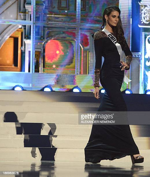 Miss Chile MariaJesus Matthei competes in the 2013 Miss Universe preliminary competition in Moscow on November 5 2013 Miss Universe 2013 will be...
