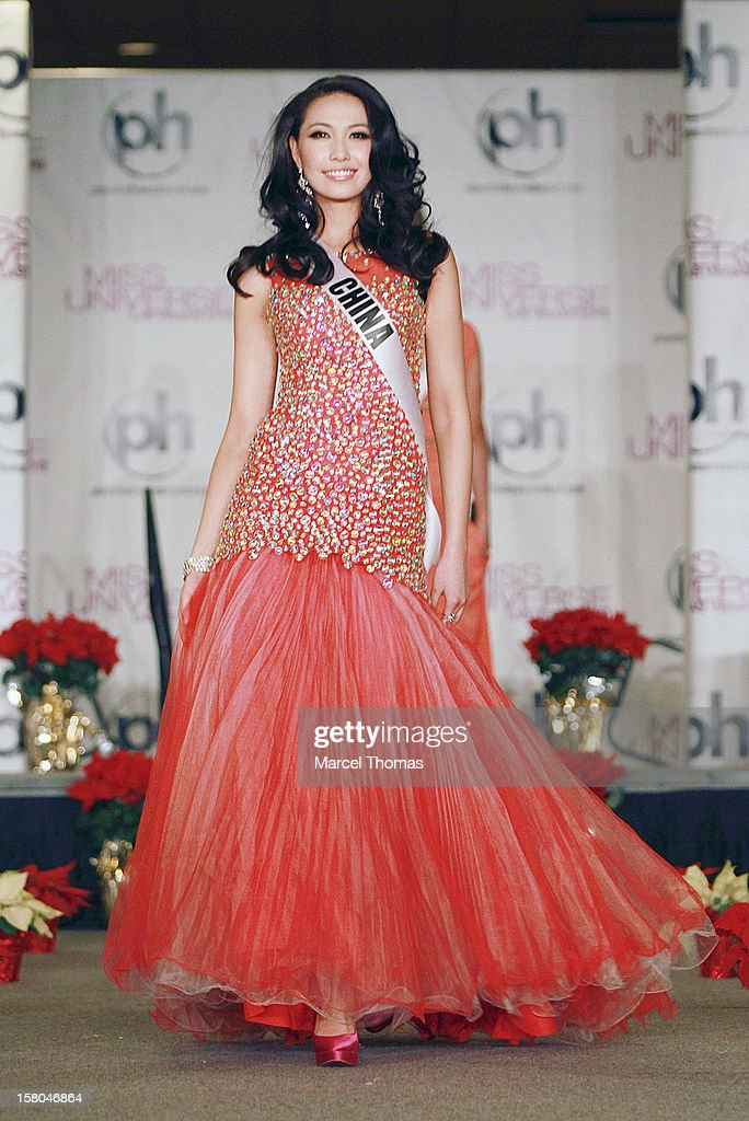 Miss China Ji Dan Xu walks the runway as part of the 2012 Miss Universe Pageant's Official Welcome Event at Planet Hollywood Resort and Casino on December 6, 2012 in Las Vegas, Nevada.