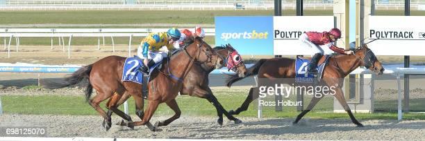 Miss Clooney ridden by Ben E Thompson wins the IGA Liquor BM70 Handicap at Racingcom Park Synthetic Racecourse on June 20 2017 in Pakenham Australia